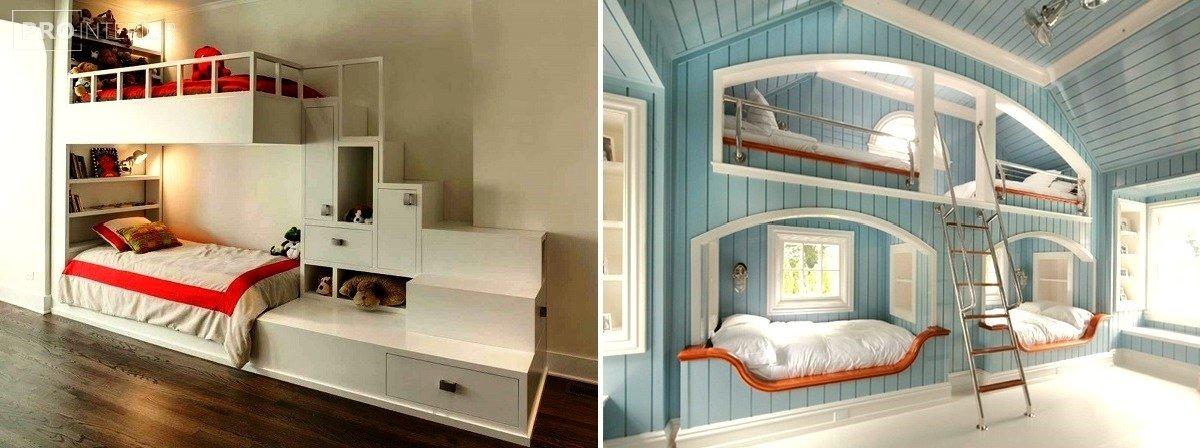 детская кровать двухъярусная фото
