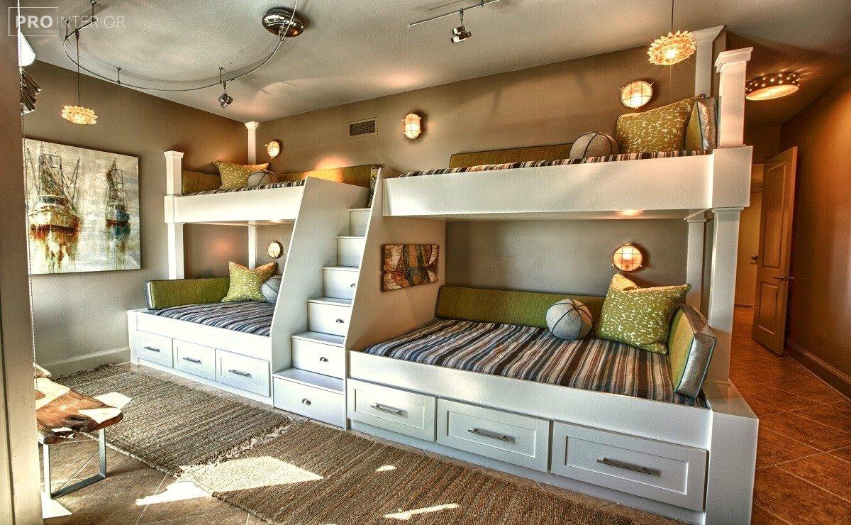 двоярусне ліжко в інтер'єрі