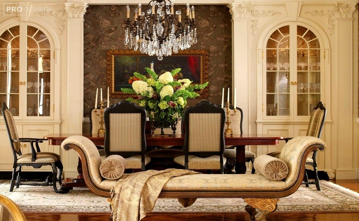 интерьер дома в стиле классицизма
