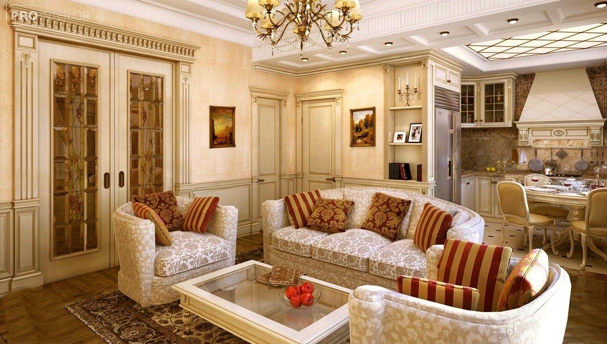 інтер'єр приміщення в стилі класицизму