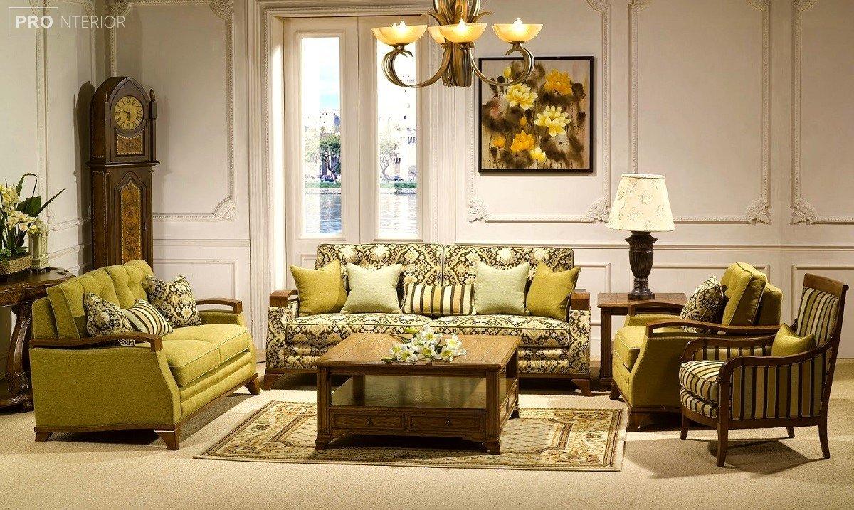 інтер'єр вітальні в класичному стилі