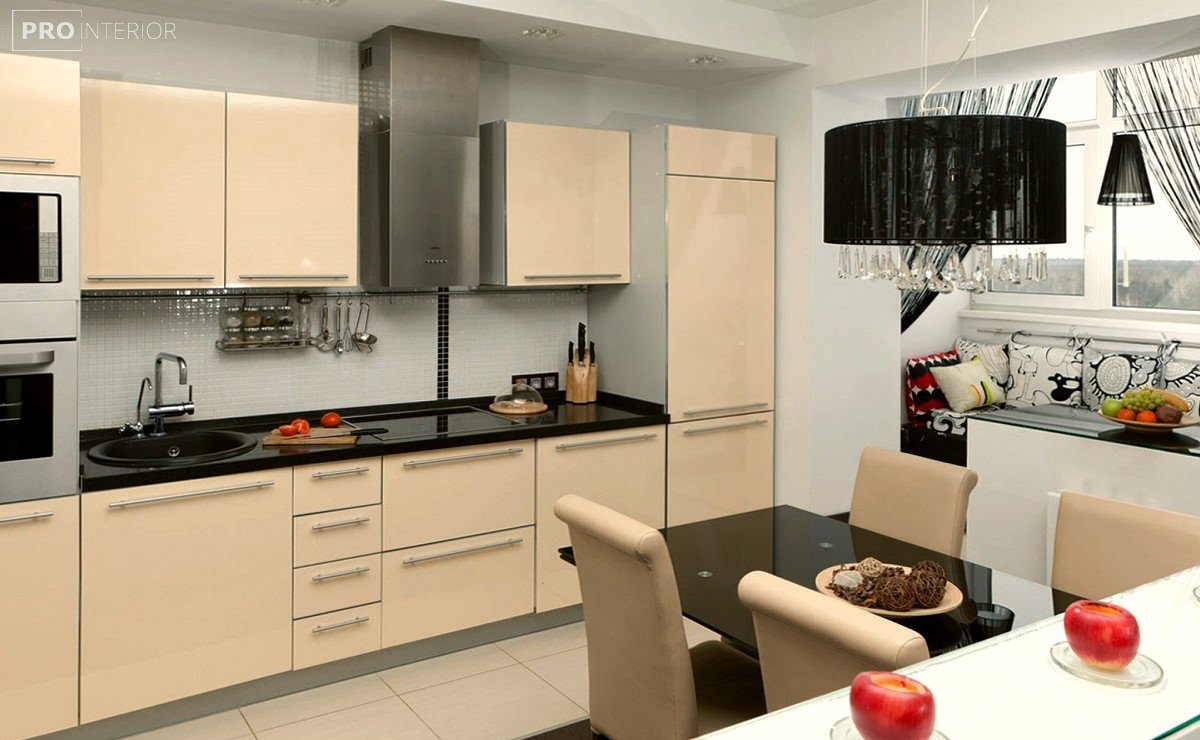 Примеры лаковых кухонь. фото кухонь м32.