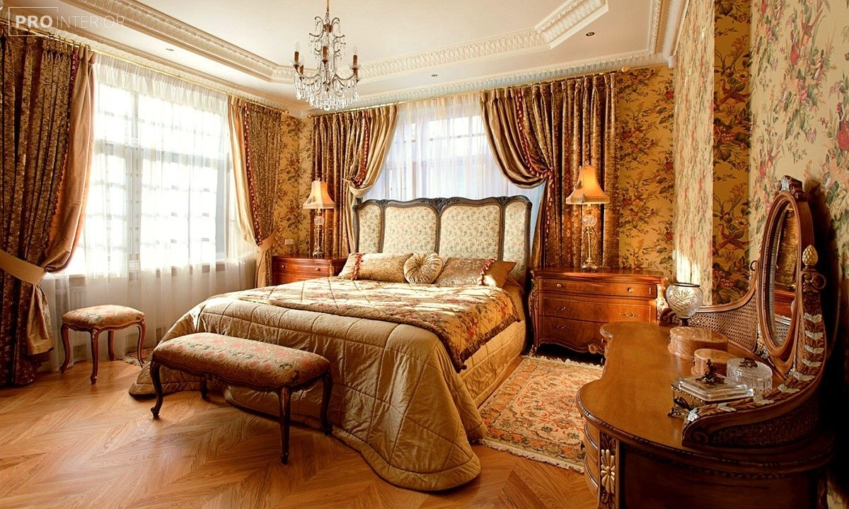 спальня в англійському стилі