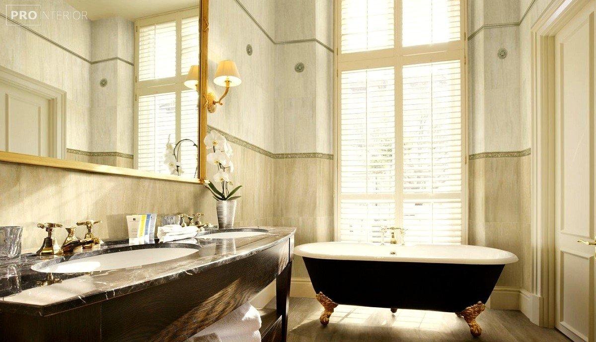 фото ванної в англійському стилі