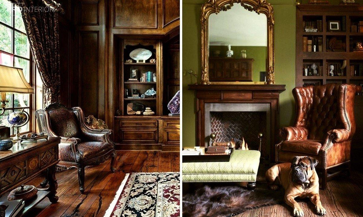інтер'єр вітальні в англійському стилі