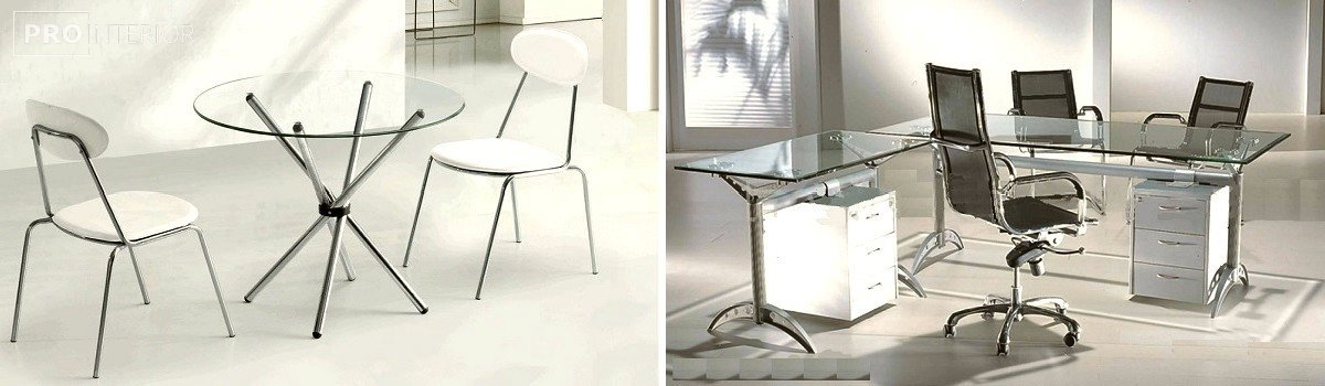 интерьер стеклянная мебель фото