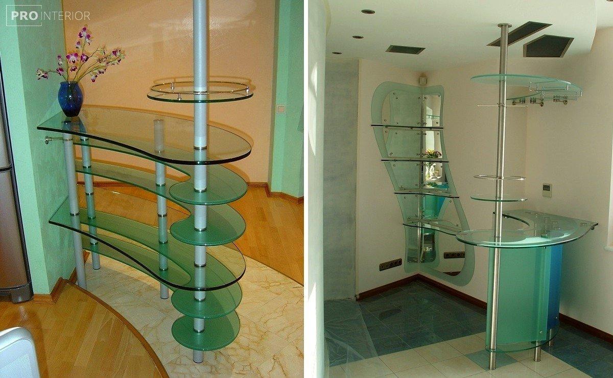 стиль стеклянная мебель в интерьере фото