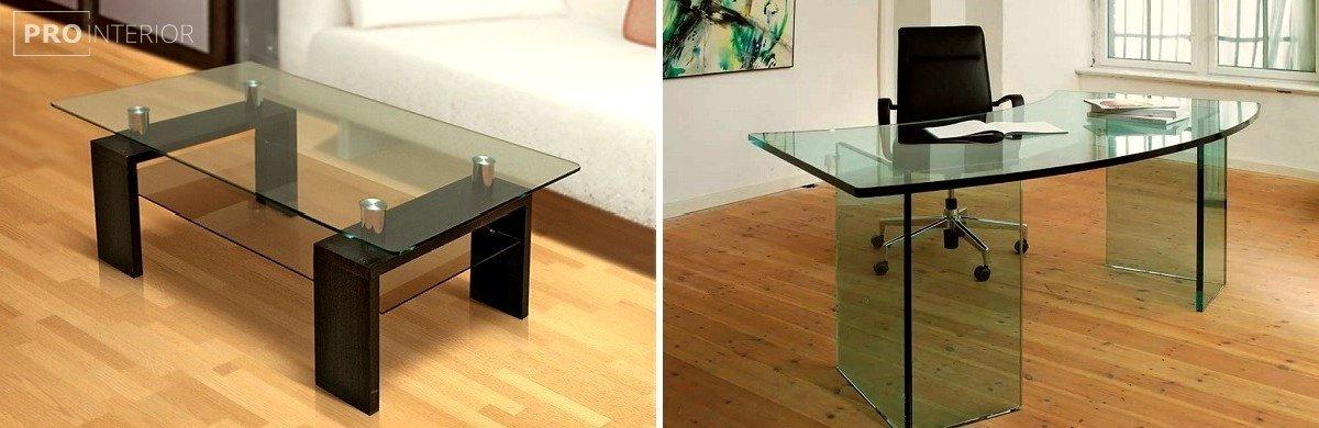 стеклянная мебель интерьер
