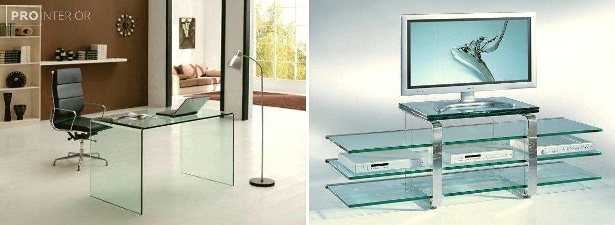 фото стеклянная мебель в интерьере