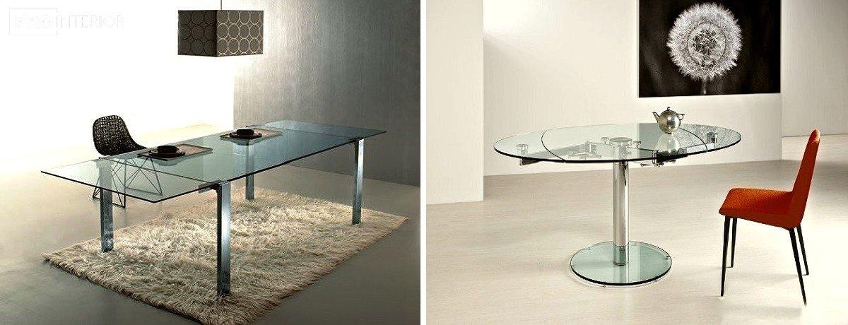 интерьерный стиль мебель из стекла