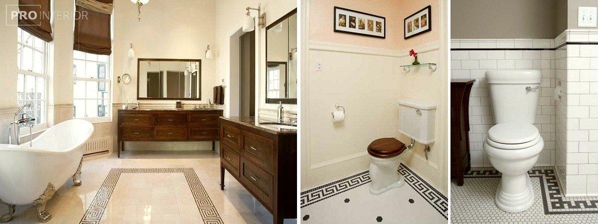 грецький стиль в ванній фото