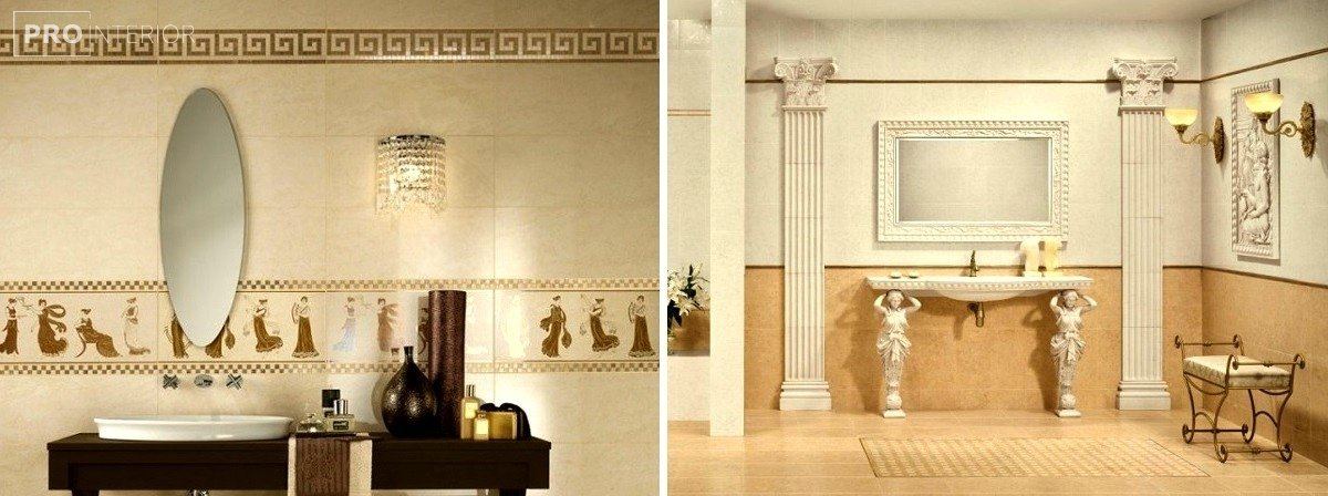 дизайн ванни у грецькому стилі