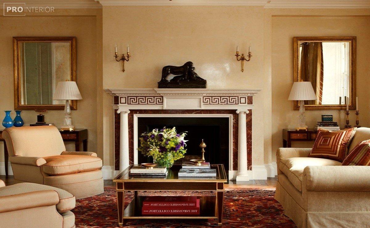 интерьер гостинной в греческом стиле