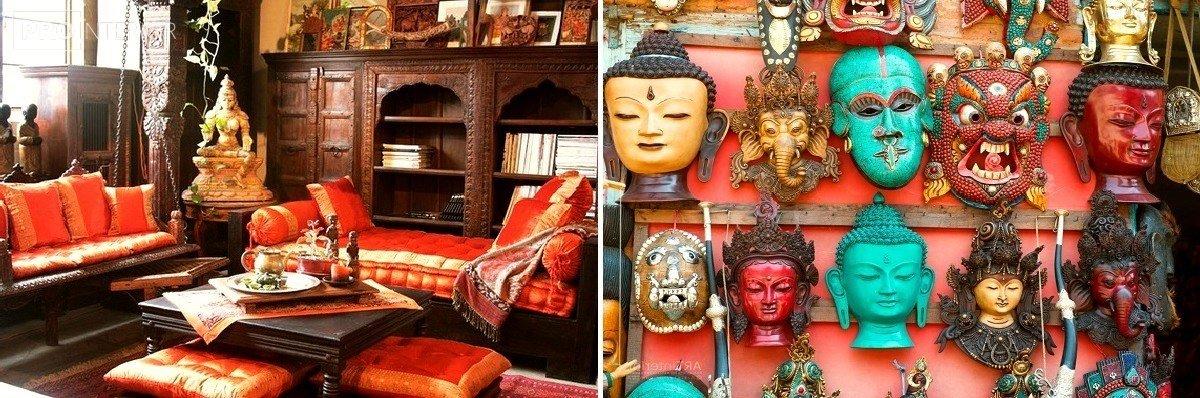 індійський стиль в інтер'єрі