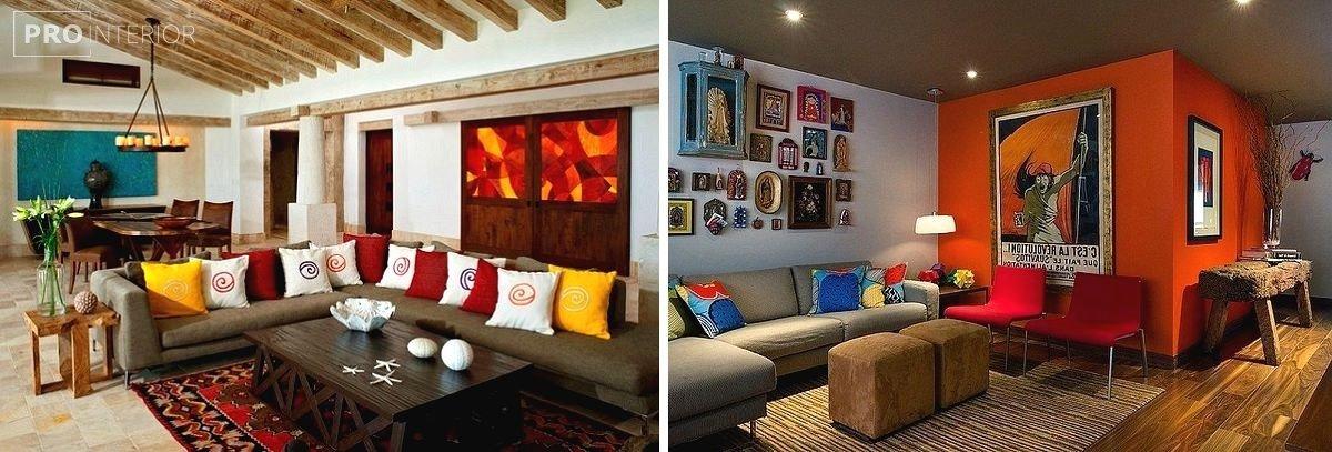 интерьер комнаты в мексиканском стиле