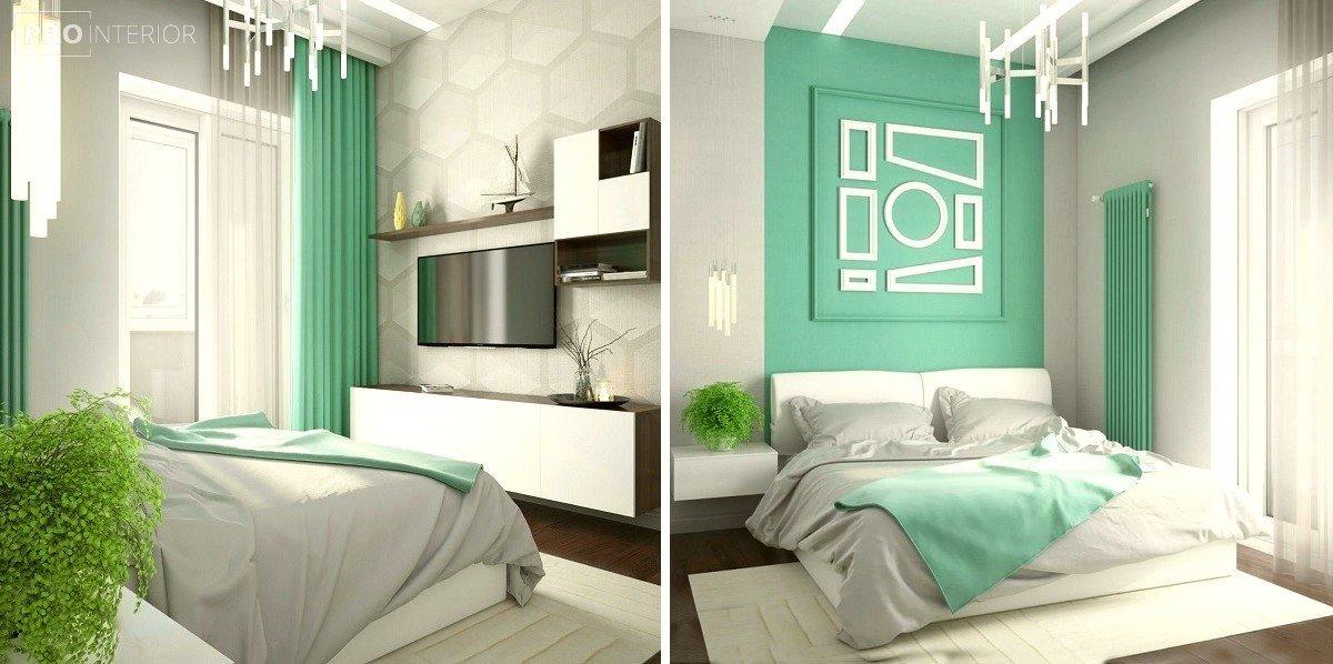 кімната в м'ятному кольорі фото