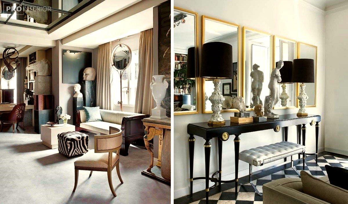 стиль неоклассицизм комнаты в интерьере