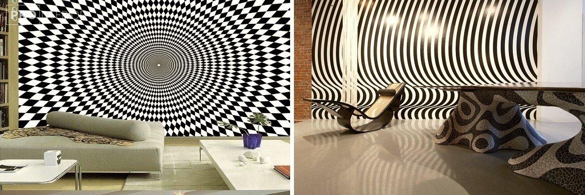 стиль дизайна интерьера оп-арт