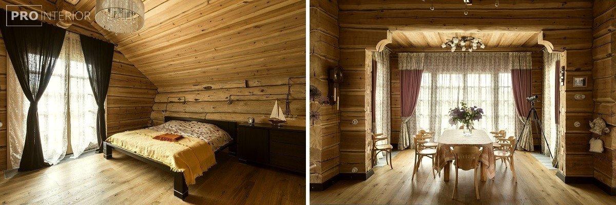 интерьер спальни в русском стиле