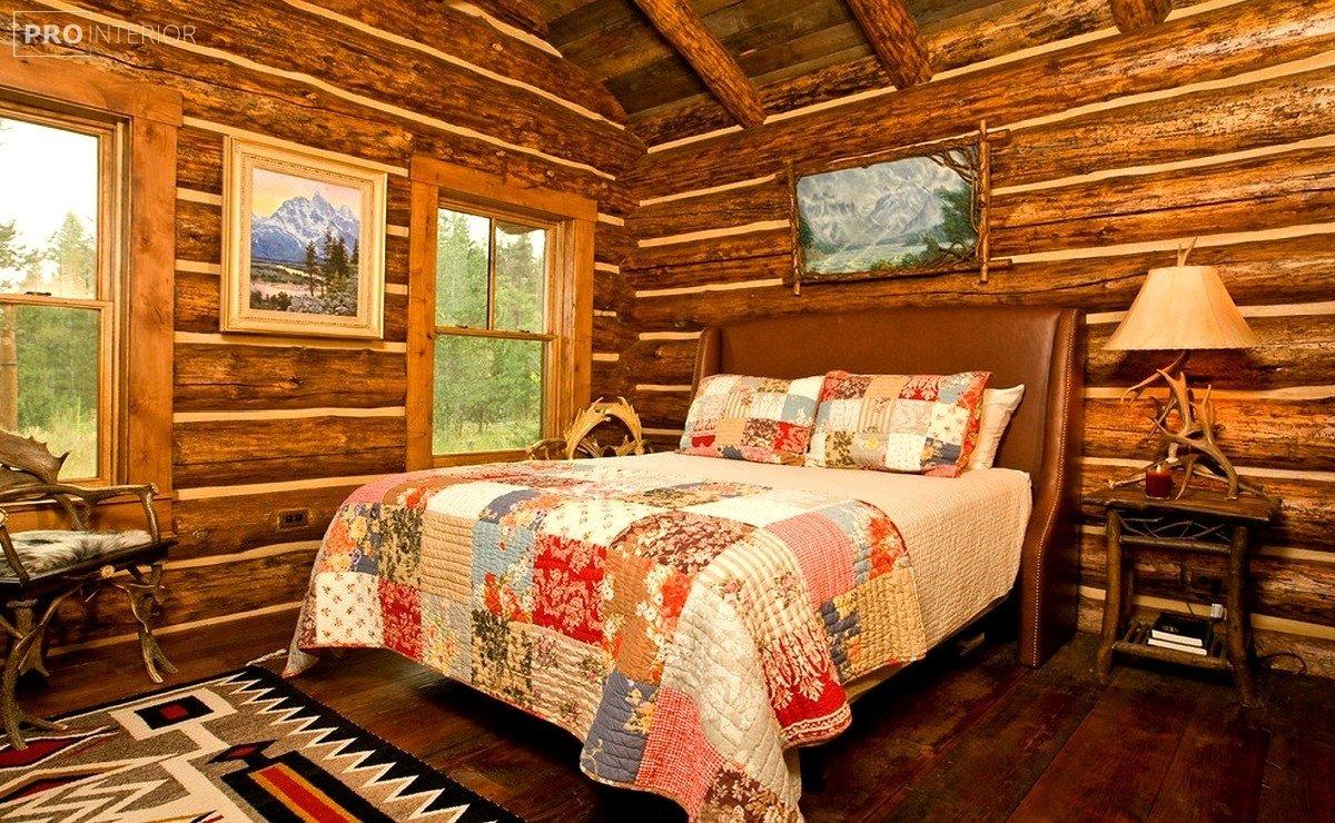 інтер'єр вітальні в російському стилі