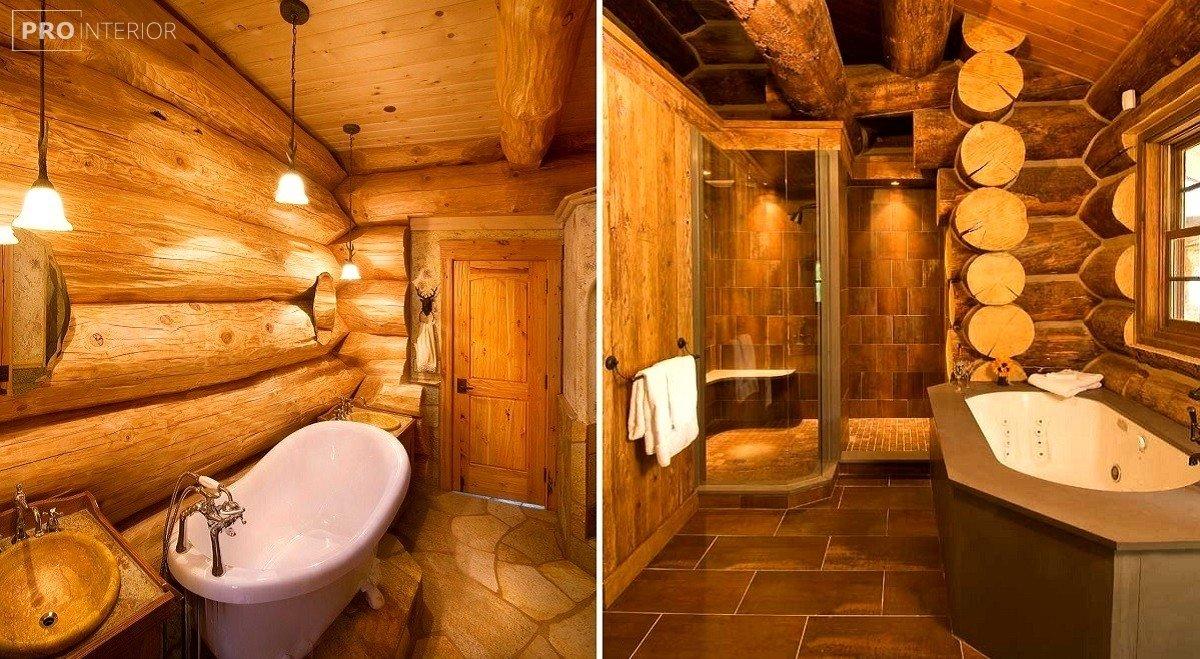 рустик стиль в ванной фото
