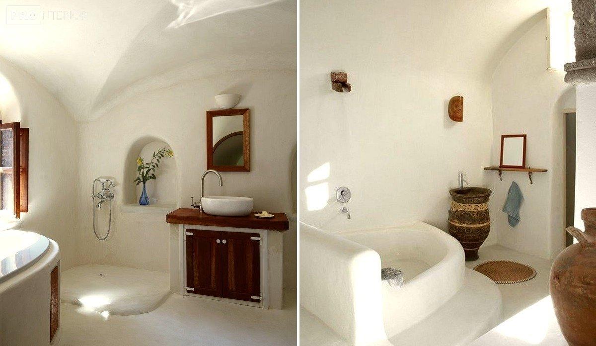 ванная в стиле санторини