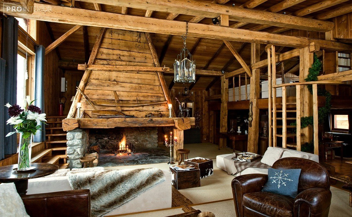 Chalet style in the interior
