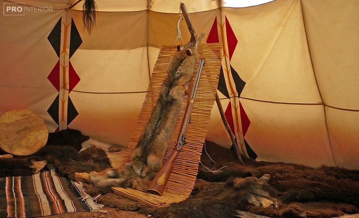 интерьер жилища американских индейцев