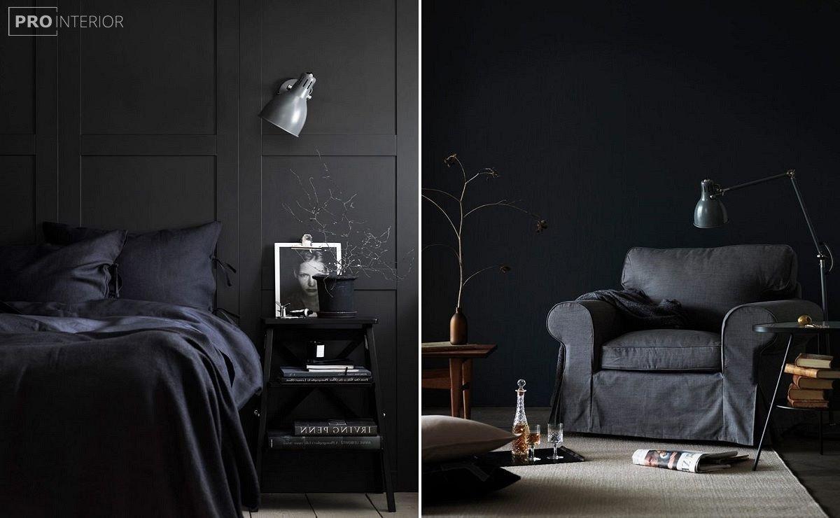 інтер'єр в чорному кольорі фото
