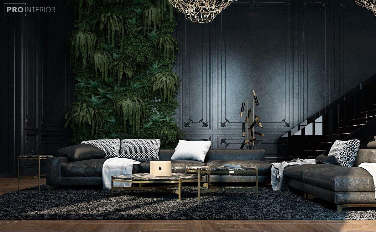 фото квартири в чорному кольорі