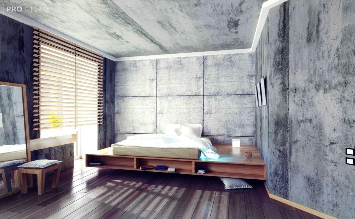 бетонні стіни в інтер'єрі