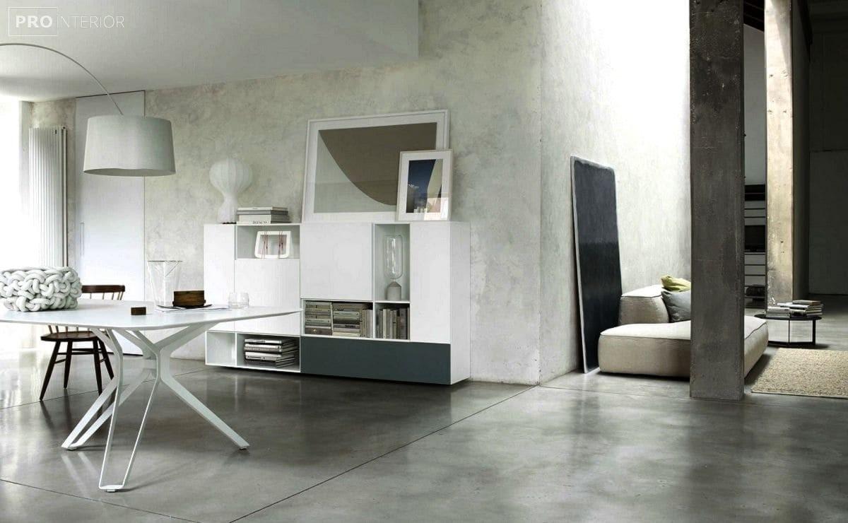 бетон в інтер'єрі кімнати