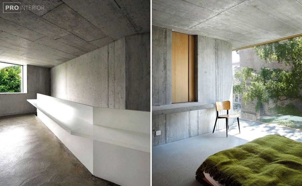 бетон в інтер'єрі будинку