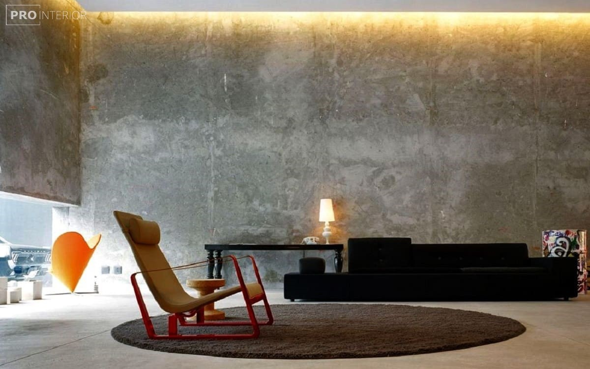 бетонні стіни в квартирі