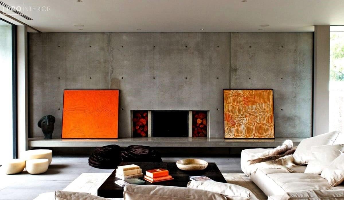 красивий бетонний інтер'єр