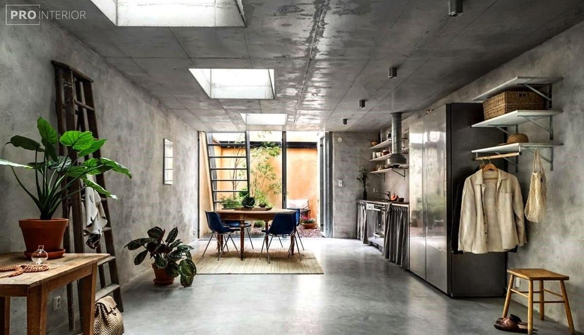 голий бетонну стелю