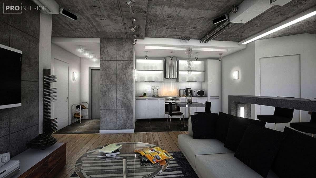 голий бетонна стеля у квартирі