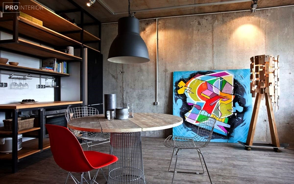 квартира в бетонному стилі