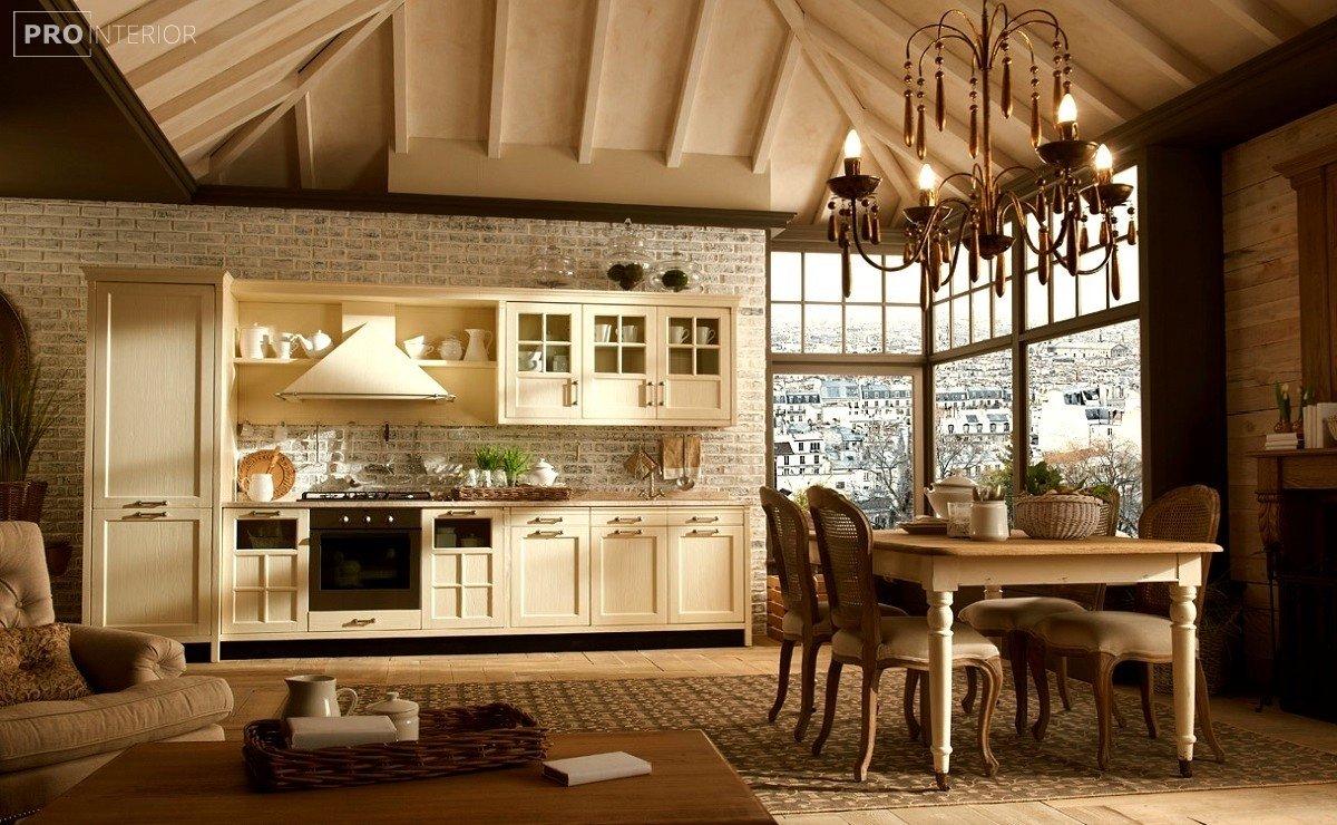 English style kitchen interior