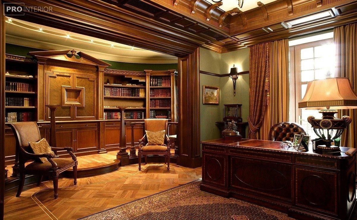 интерьер кабинета в английском стиле фото
