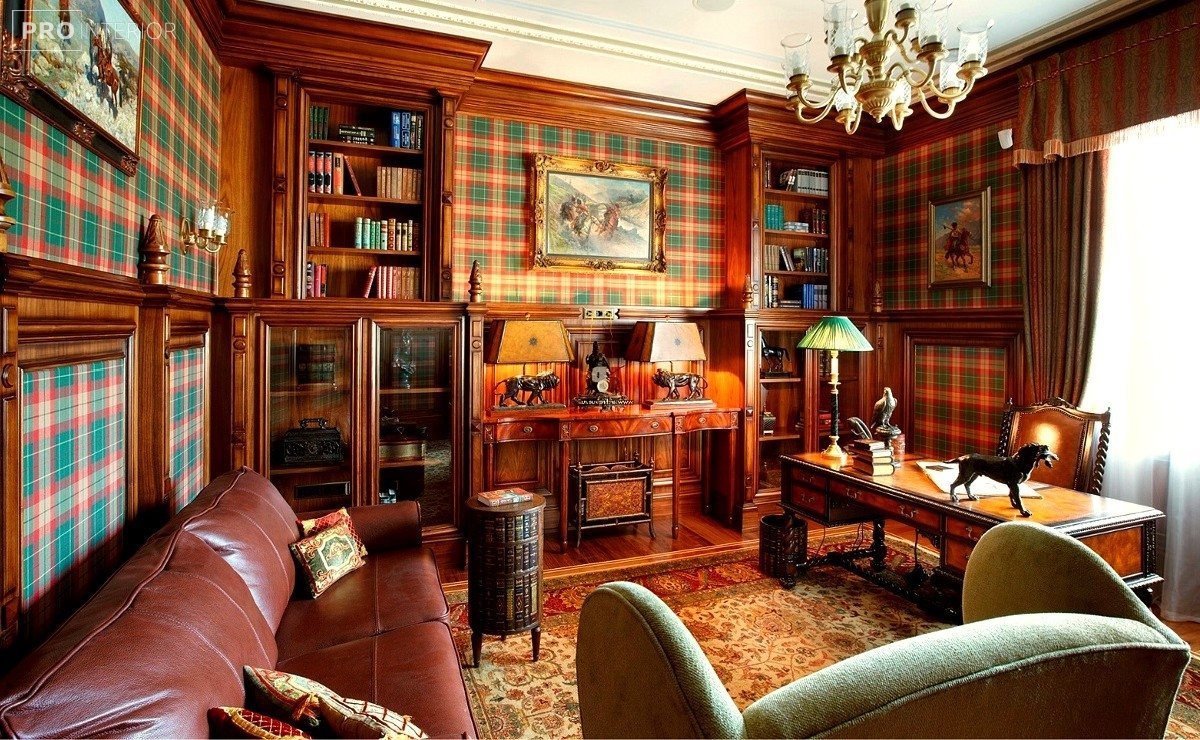 interior design in English style photo