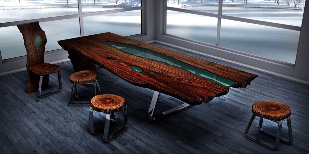 обеденный стол из эпоксидной смолы