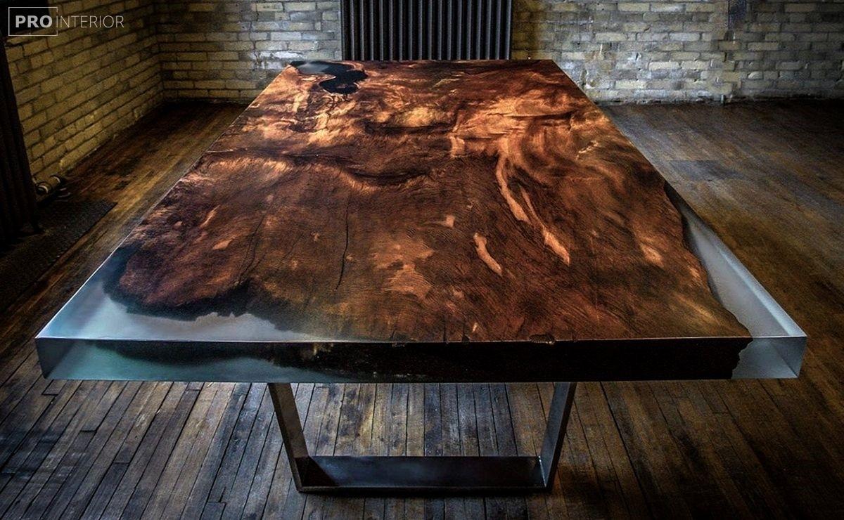 стол из эпоксидки в стиле лофт