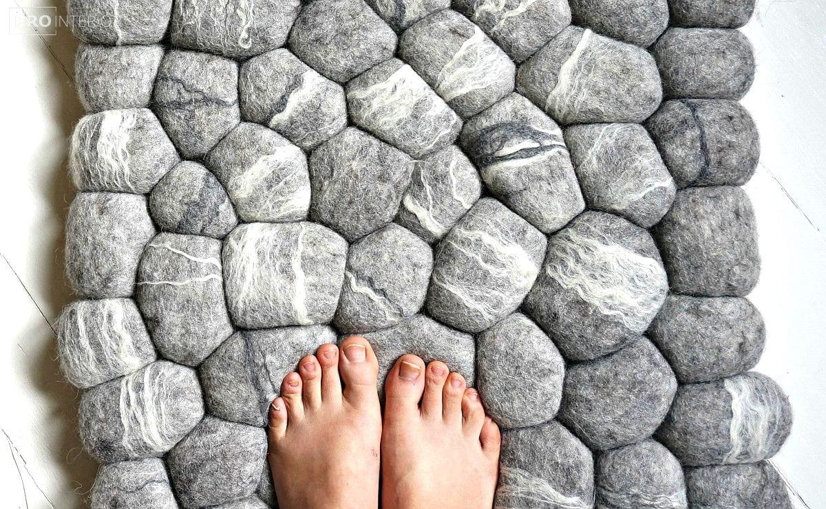 повстяні камені в інтер'єрі