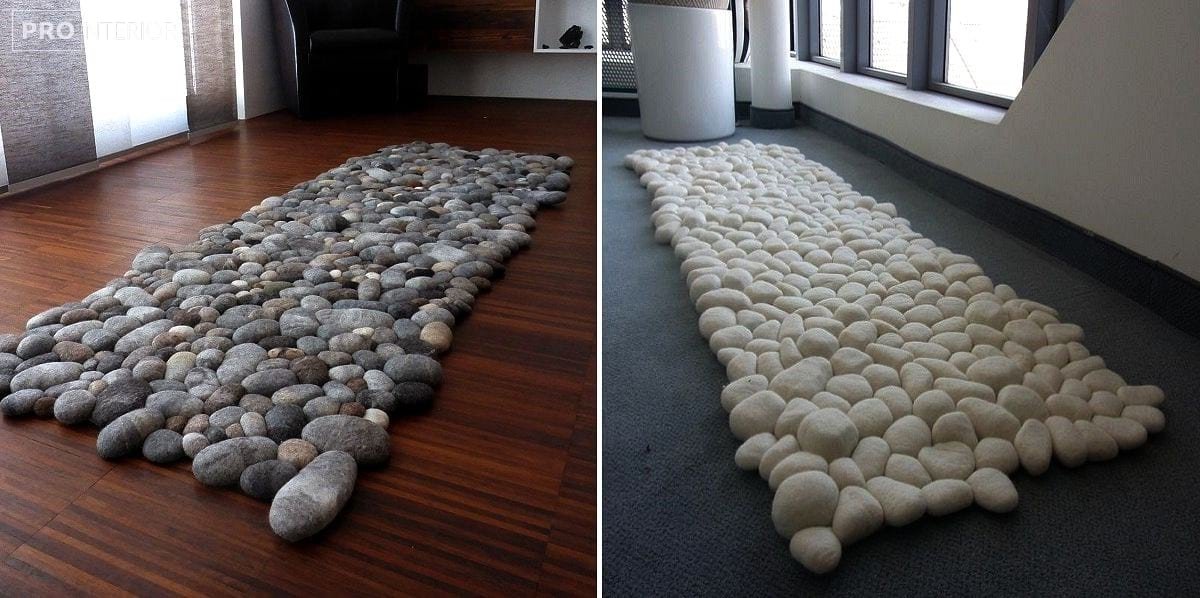 килимки і камені з повсті