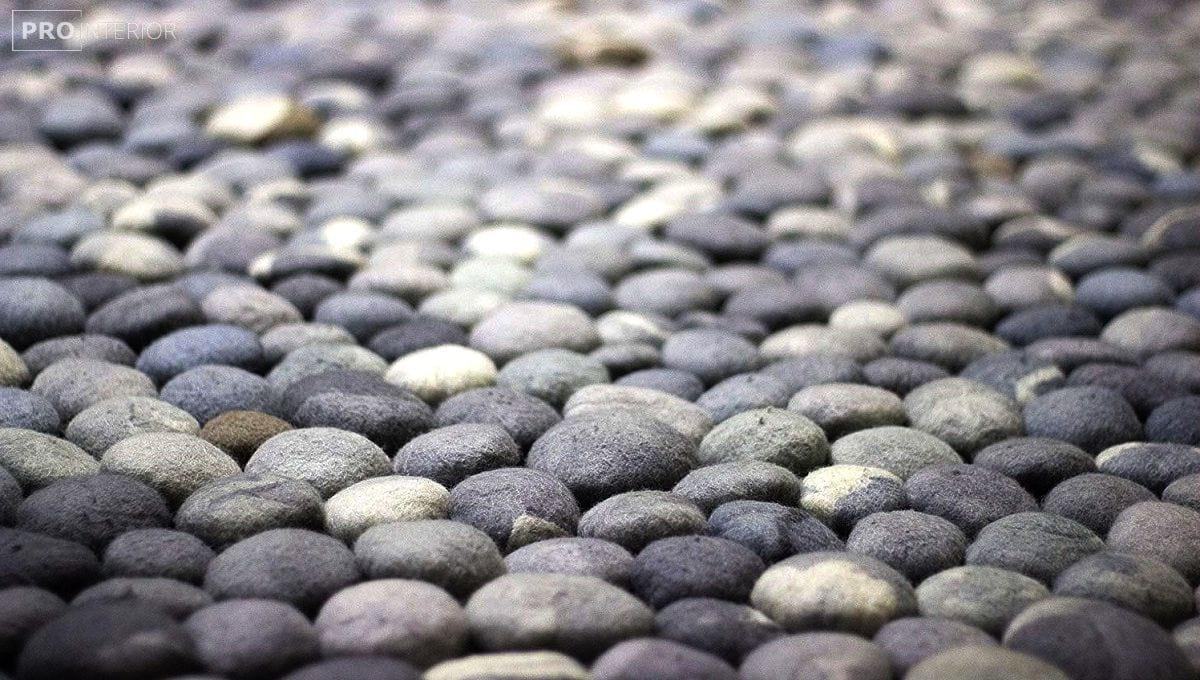 повстяні камені в інтер'єрі фото
