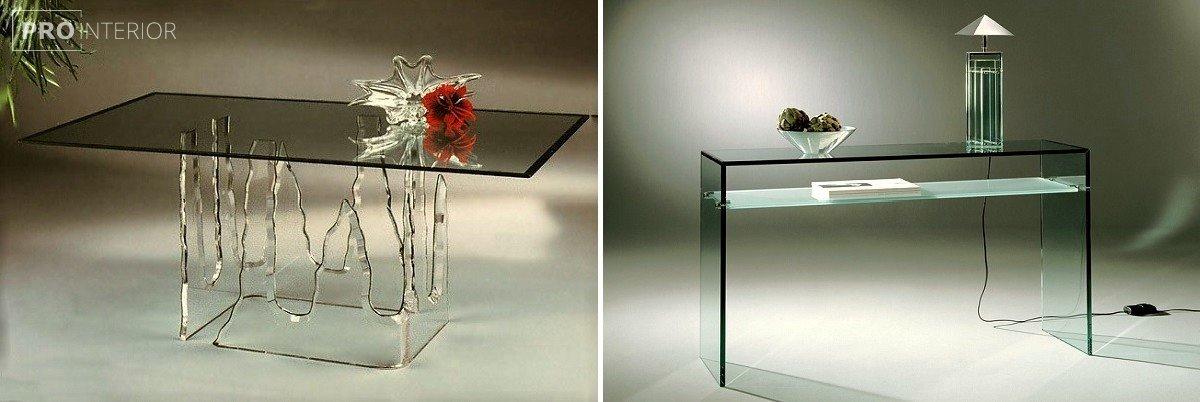 стиль мебель из стекла в интерьере фото