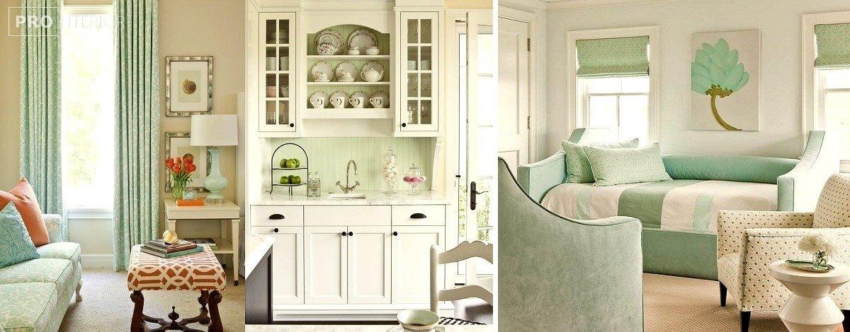 фото кухні в м'ятному кольорі
