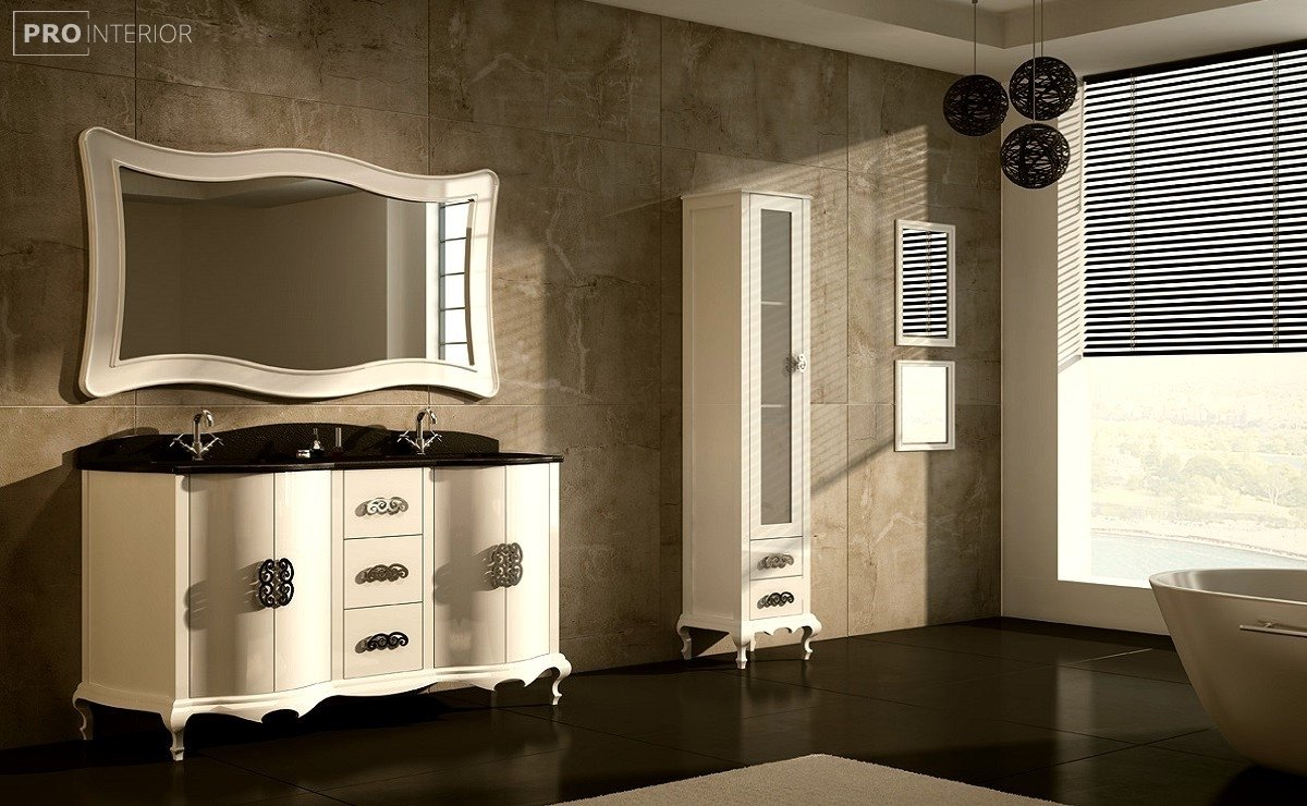 neoclassical style in the bathroom