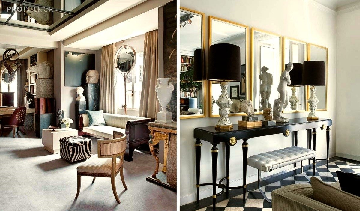 neoclassical style of the room in the interior